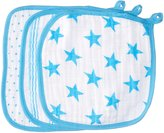 Aden Anais aden + anais Classic Washcloth, Fluro Blue, 3 Pack