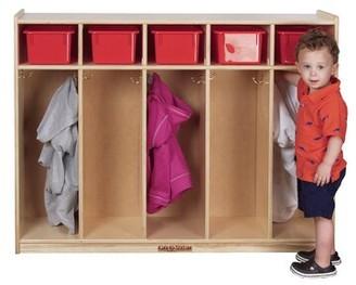 5 Section Preschool Cubby Locker Kids' Station