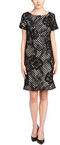 Donna Ricco Women's Lace Overlay Tweed Dress