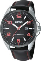 Lorus RH977CX9 - Men's Watch, Leather, Color: Black