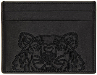 Kenzo Black Kampus Card Holder