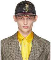 Gucci Black Floral Sun Visor Hat