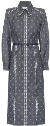 Fendi Karligraphy cotton drill shirt dress