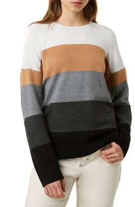 French Connection Stripe Oversize Sweater