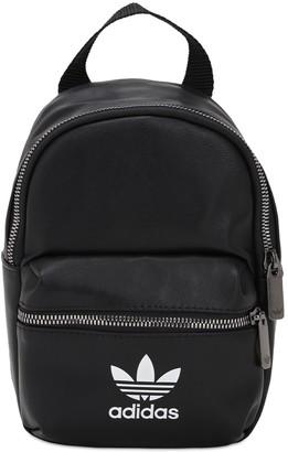 adidas Logo Faux Leather Backpack