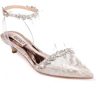 Badgley Mischka Addison Collection Crystal Embellished Ankle Strap Sandal