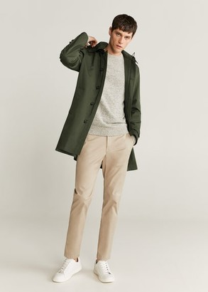 MANGO Long water repellent trench