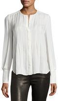 Diane von Furstenberg Vicky Pleated Silk Shirt