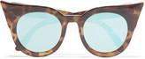 Le Specs Cat-eye tortoiseshell acetate sunglasses