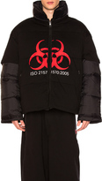 Vetements Volunteer Puffer Jacket in Black.