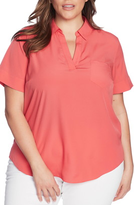 Court & Rowe Patch Pocket Collared Blouse