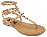 Betseyville by Betsey Johnson Women's Pyramid Stud Gladiator Sandals -