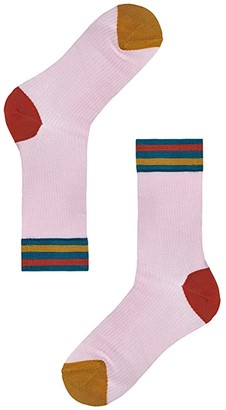 Happy Socks Hysteria By Lona Crew Sock (Light/Pastel Yellow) Women's Crew Cut Socks Shoes
