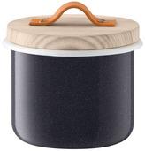 LSA International Utility Container & Ash Lid dia14cm Pepper Black