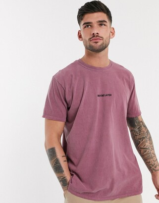 New Look over-dyed t-shirt with maybe later print in red