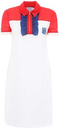 Prada Ruffled Zipped Collar Dress