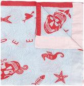Alexander McQueen sea print scarf - women - Silk/Polyester - One Size