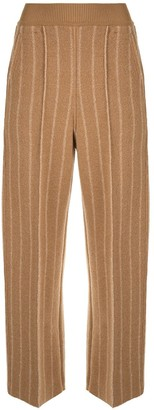 Coohem Cropped Pinstripe Trousers