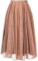 No.21 lace tulle midi skirt