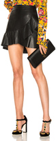 Tanya Taylor Leather Tally Skirt in Black.