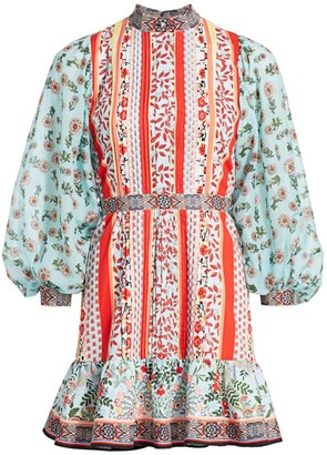 Alice + Olivia Raya Floral Mini Dress