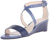 Nine West Women's Lacedress Synthetic Wedge Sandal