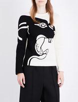 Valentino Panther-jacquard jersey sweatshirt