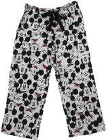 Disney Mickey Mouse FACES Womens Capri Pant - 24 Inch White
