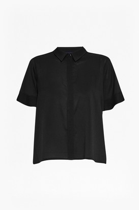 French Connection Polly Plains Frill Sleeve Shirt