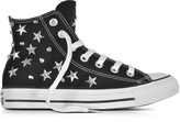 Converse Limited Edition Chuck Taylor All Star Hi Black Sneakersw/Stars and Studs