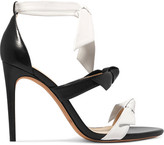 Alexandre Birman Lolita Bow-embellished Leather Sandals - Black