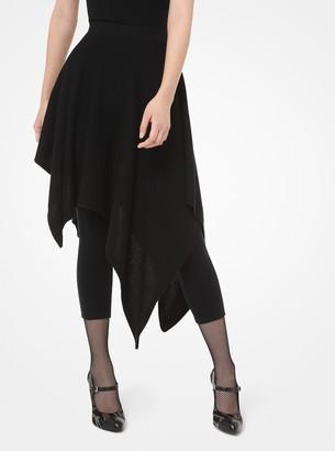 Michael Kors Cashmere Asymmetric Dance Skirt