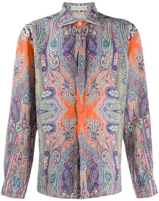 Etro Paisley-Print Linen Shirt