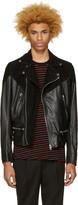 Diesel Black Leather L-Bort Jacket
