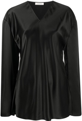Nina Ricci longline V-neck blouse