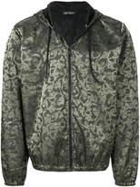 Versace baroque pattern hooded jacket