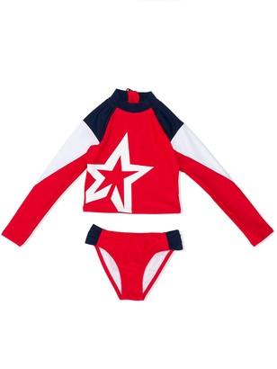 Perfect Moment Kids Star Print Longsleeved Bikini Set