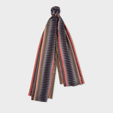 Paul Smith No.9 - Men's Grey Silk-Blend Scarf