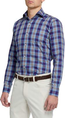 Peter Millar Men's Plaid Long-Sleeve Sport Shirt