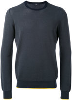 Fay spot knit crew neck sweater