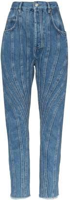 Thierry Mugler high-rise seam-detail denim jeans