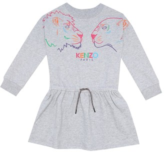 Kenzo Kids Logo cotton jersey dress