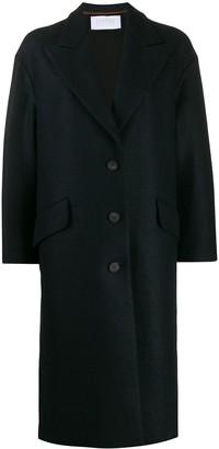 Harris Wharf London Welt Detail Single Breasted Coat