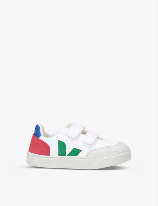 Veja V12 branded ChromeFree leather trainers 6-9 years