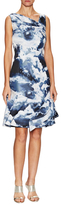 Carolina Herrera Jacquard Asymmetrical Seam A Line Dress
