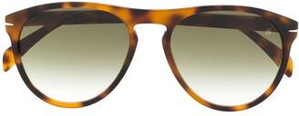 David Beckham Tortoiseshell Effect Large Frame Sunglasses