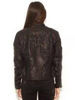 Blank NYC Vegan Leather Jacket in Oil Spill