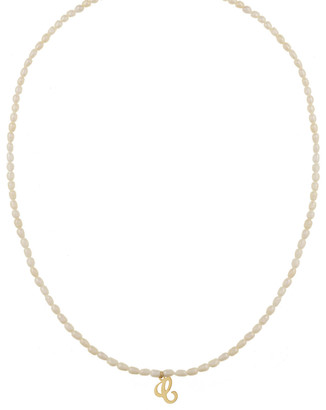 Kozakh Quincy Initial Necklace with Pearls