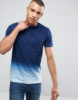 Celio T-Shirt with Indigo Fade Detail