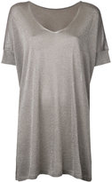 Roberto Collina glittery loose knitted T-shirt - women - Polyester/Viscose - L